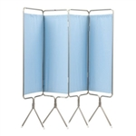 Winco Privess Modular 4 Panel Aluminum Folding Screen with SureChek