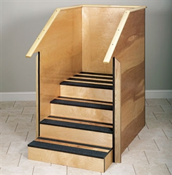 One-Sided Staircase with Full Sides