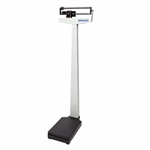 Health O Meter Mechanical Beam Scale with Wheels and Counterweights