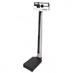 Health O Meter Mechanical Beam Scale with Height Rod