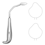 Sklar Rowe Orbital Retractor, Angled with Curved, Left, 7.5""