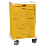 Harloff Mini24 Line Isolation Cart, Tall Cabinet, Four Drawers with Key Lock