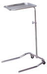 Lakeside Single post mayo instrument stand with adjustable height and removable tray