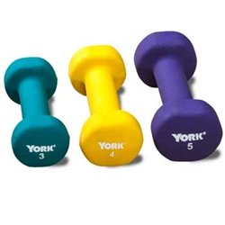 3 Pound Neoprene Dumbbell - 2 Per Pack