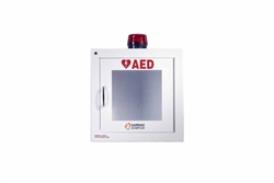 AED Wall Cabinet: Surface Mount with Alarm & Strobe (Security Enabled)
