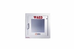 AED Wall Cabinet: Semi-Recessed with Alarm, Security Enabled