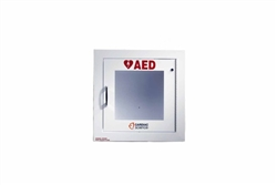 AED Wall Cabinet: Fully-Recessed with Alarm, Security Enabled