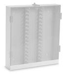 White PVC 30 Column HPLC Storage Cabinet