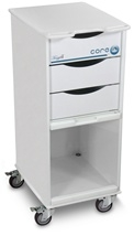 Deluxe White Polyethylene Core SP Space Saving Lab Cart