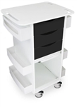 Black Polyethylene Medical Cart