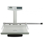 Health O Meter Digital Pediatric Tray Scale with Mechanical Height Rod