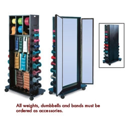 Hausmann Combo Weight Rack & Triple Mirror