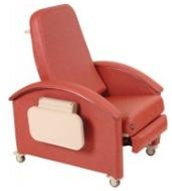 Winco Comfort Care Premier Recliner (3-Positions) Nylon Casters,
