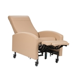 "Winco Vero Care Cliner w/ Push Back, Fixed Arms & 3"" Casters"