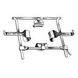 Sklar Franz Abdominal Retractor Complete, Includes Frame 220mm x 215mm and 4 Blades
