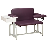 Clinton Bariatric Blood Drawing Chair with Drawer and Flip-Arm