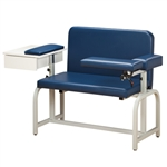 Clinton Extra-Wide Blood Drawing Chair with Drawer and Flip-Arm