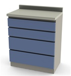 "UMF Modular Cabinets, 30"" Base Cabinet, 4 Drawer"