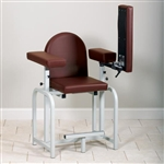 Clinton Lab X Series Extra-Tall Upholstered Blood Drawing Chair