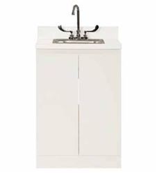 "UMF Modular Cabinets, 24"" Base Cabinet With SS Sink and Faucet and 2 doors"