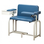 Clinton Extra-Tall & Wide Blood Drawing Chair with Drawer and Flip-Arm