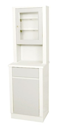 "UMF Treatment Cabinet with upper cabinet section, 1 door, 1 shelf, 20""W x 65"" H x 16.25 D"