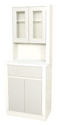 "UMF Treatment Cabinet w/upper cabinet section, 2 doors, 1 drawer, 1 shelf, 25.25""W x 65""H x 16.25""D"