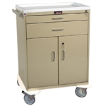 Classic Line, Two Drawer with Lower Storage Compartment, Treatment Cart, Key Lock
