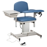 Clinton Power Series, Blood Drawing Chair with Padded Flip Arm and Drawer