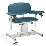 Clinton Power Series, Extra-Wide, Blood Drawing Chair with Padded Arms