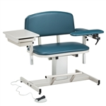 Clinton Power Series, Extra-Wide, Blood Drawing Chair with Padded Arm and Drawer