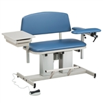 Clinton Power Series, Bariatric, Blood Drawing Chair with Padded Flip Arm and Drawer