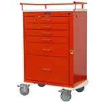 Classic Line, Six Drawer, Emergency Cart