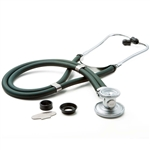 "ADC Adscope 641 Sprague Stethoscope, 22"", Dark Green, Disposable Package"