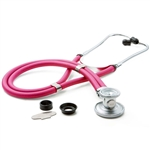 "ADC Adscope 641 Sprague Stethoscope, 22"", Neon Pink, Disposable Package"