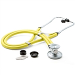 "ADC Adscope 641 Sprague Stethoscope, 22"", Neon Yellow, Disposable Package"