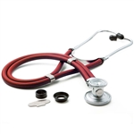 "ADC Adscope 641 Sprague Stethoscope, 22"", Red, Disposable Package"
