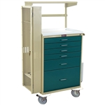 Classic Line, Six Drawer, Difficult Airway Cart, with Key Lock, Specialty Package