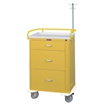 Harloff Infection Control Cart, Three Drawers with Breakaway Lock