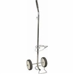 Chrome-Plated Cylinder Cart with Fixed Handle (For D or E Cylinder)
