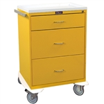 Harloff Infection Control Cart, Three Drawers with Key Lock, Standard Package