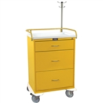 Harloff Infection Control Cart, Three Drawers with Key Lock, Specialty Package