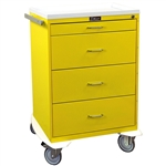 Harloff Infection Control Cart, Four Drawers with Key Lock, Standard Package