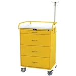 Harloff Infection Control Cart, Four Drawers with Key Lock, Specialty Package
