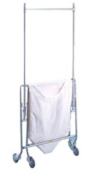 R&B Collapsible Hamper w/ Canvas Bag Double Pole Rack