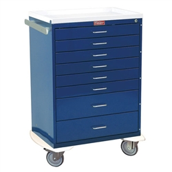 Classic Line, Eight Drawer, Anesthesia Workstation, Key Lock