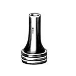 "Sklar Zoellner Ear Speculum, Oval, Black, 1-1/2"" - #4"