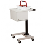 Small, H-Base, Pneumatic, Two-Bin Phlebotomy Cart