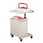 Large, H-Base, Pneumatic, Four-Bin Phlebotomy Cart