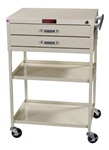 Instrument Line, Two Drawers within 6-inch Cabinet, Procedure Cart, Key Lock